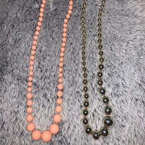 Set of two beaded necklaces